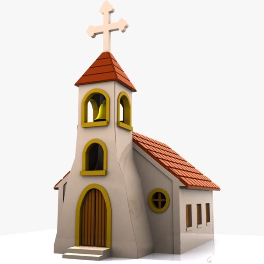 Cartoon Church 3D Model $15 - .unknown .obj .max .fbx .3ds - Free3D