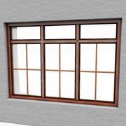 办公室大木室内窗户 3d model