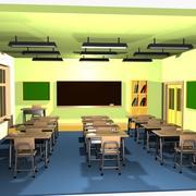Cartoon Classroom Interior 2 3d model