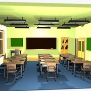 Cartoon Classroom Interior 2 3d model