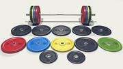 Olympic Barbell Set 3d model
