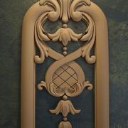 Резной растительный орнамент 3d model
