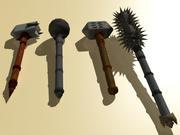Maças e Martelos de Guerra 3d model