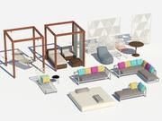 mobília ao ar livre 3d model