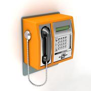 Parede do telefone 3d model