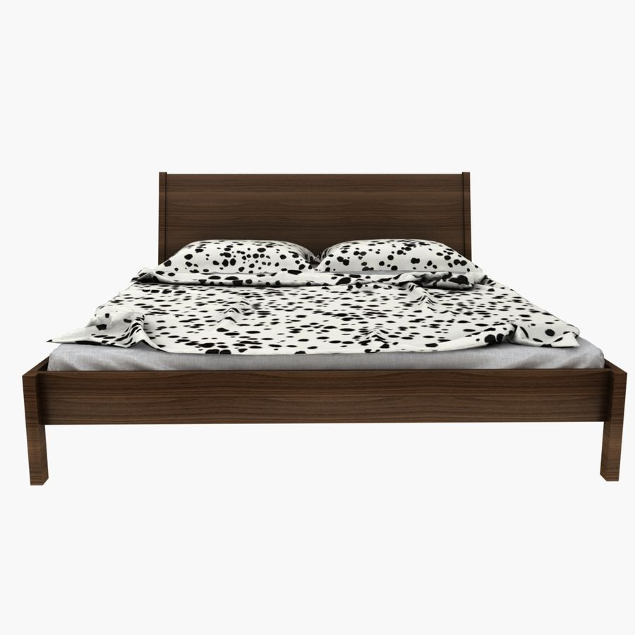 Bed Ikea Nyvoll royalty-free 3d model - Preview no. 8