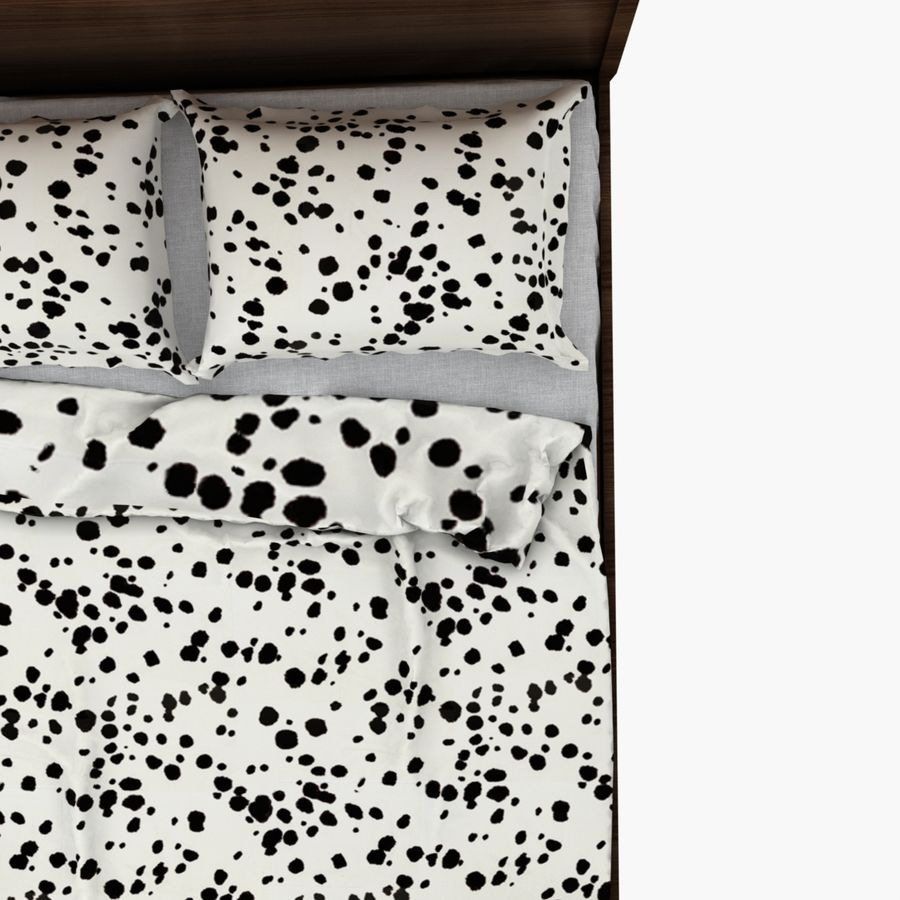 Bed Ikea Nyvoll royalty-free 3d model - Preview no. 2