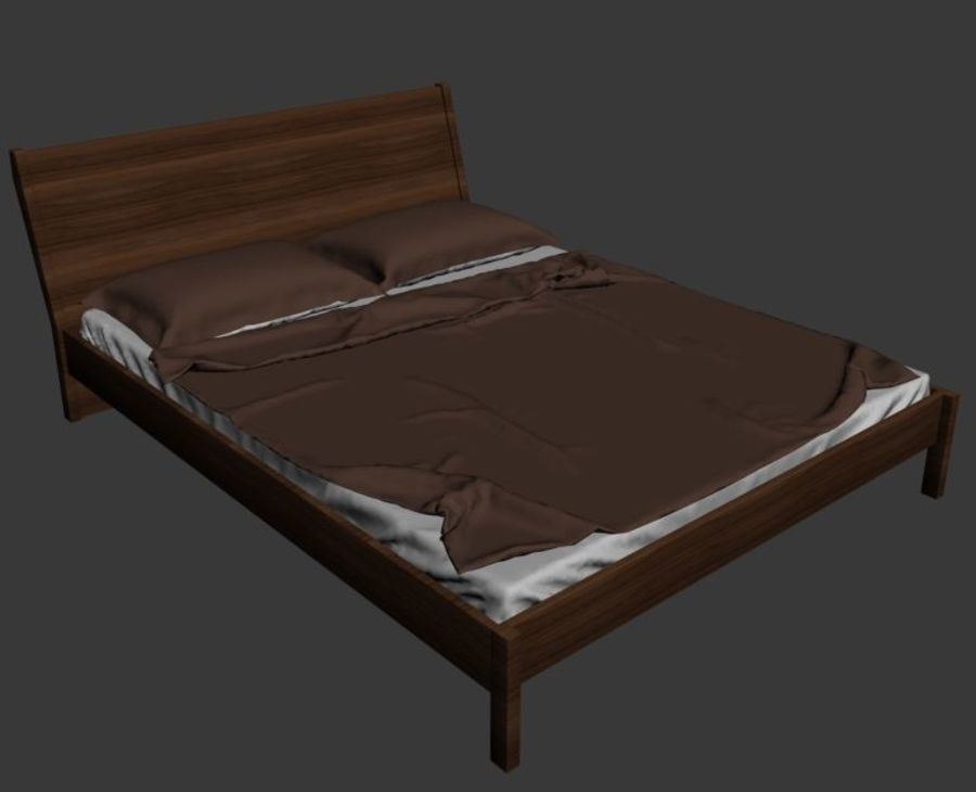 Bed Ikea Nyvoll royalty-free 3d model - Preview no. 3