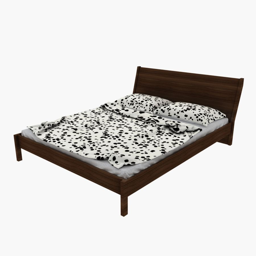 Bed Ikea Nyvoll royalty-free 3d model - Preview no. 4