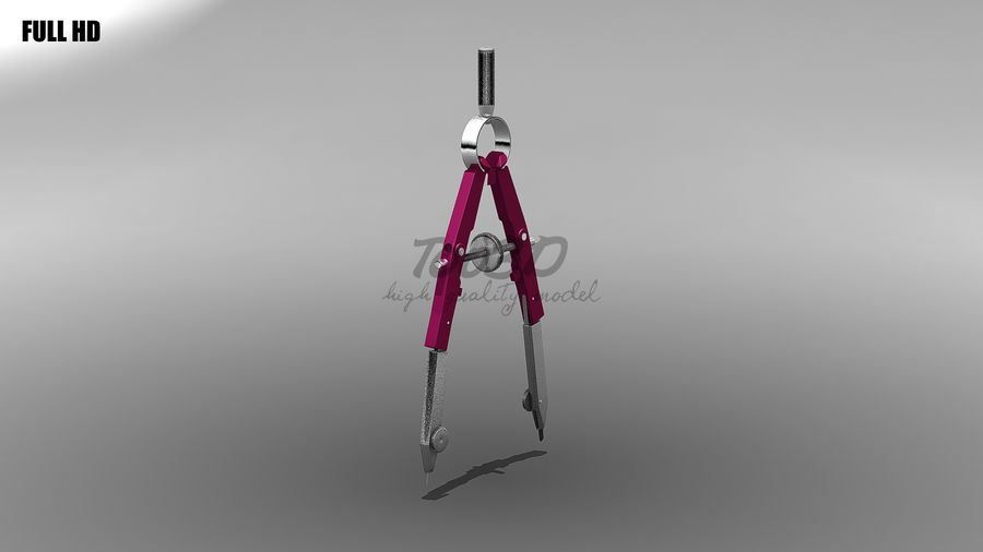 compasses royalty-free 3d model - Preview no. 9