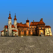Castle & Church 3d model