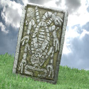 玛雅蝎子石 3d model