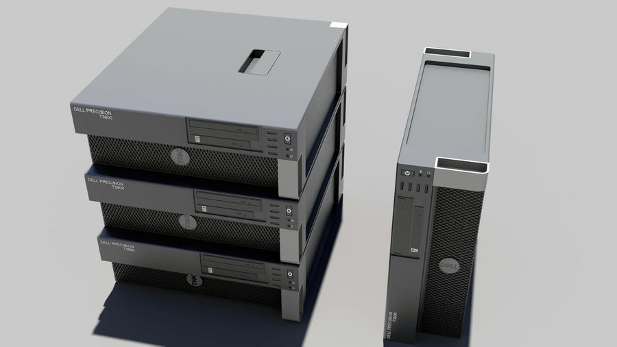 Dell Workstation royalty-free 3d model - Preview no. 4