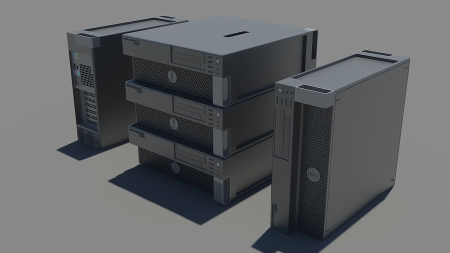 Dell Workstation royalty-free 3d model - Preview no. 1