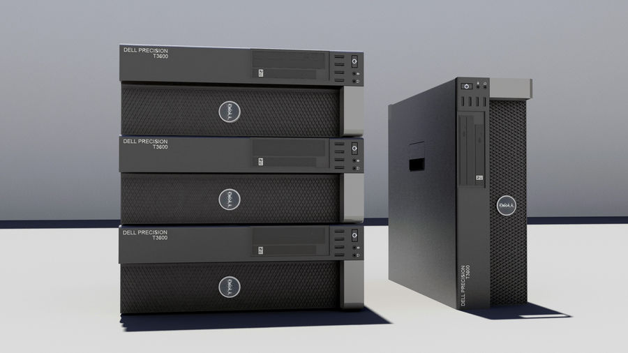 Dell Workstation royalty-free 3d model - Preview no. 2