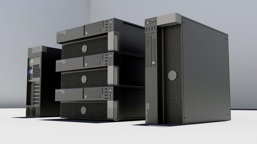 Dell Workstation royalty-free 3d model - Preview no. 5