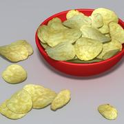Bowl of crisps 3d model