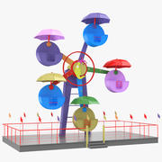 children ferris wheel 3d model