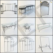 Wrought iron furniture 3d model