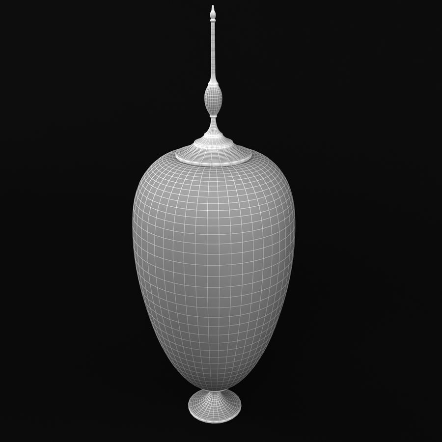 Lidded Vessel 1 royalty-free 3d model - Preview no. 5