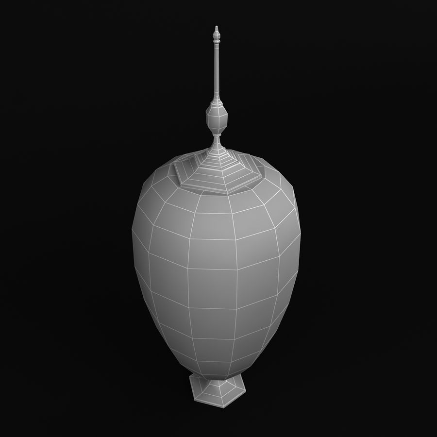 Lidded Vessel 1 royalty-free 3d model - Preview no. 6