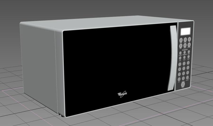 Microondas Whirpool WM1114D royalty-free modelo 3d - Preview no. 2