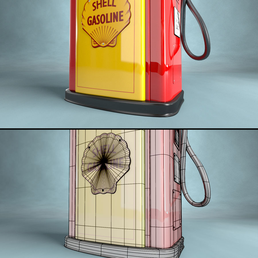 Carcasa de la bomba de gas royalty-free modelo 3d - Preview no. 5