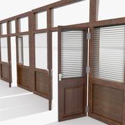 Büro-Sonnenschutztür 3d model