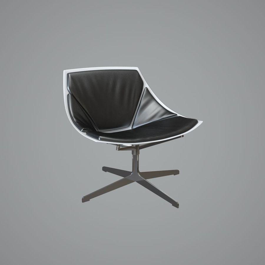 кресло для отдыха royalty-free 3d model - Preview no. 3