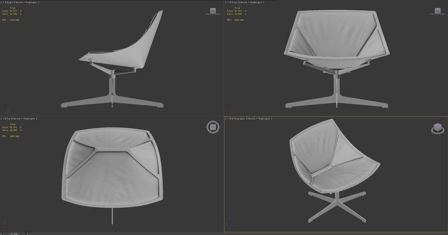 кресло для отдыха royalty-free 3d model - Preview no. 9