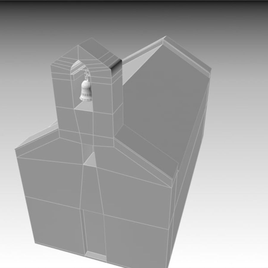 Kościół IX wieku royalty-free 3d model - Preview no. 13
