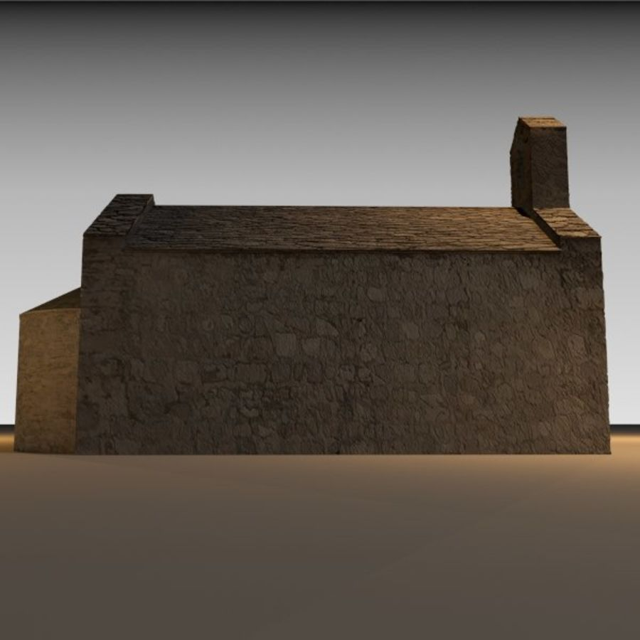 Kościół IX wieku royalty-free 3d model - Preview no. 7