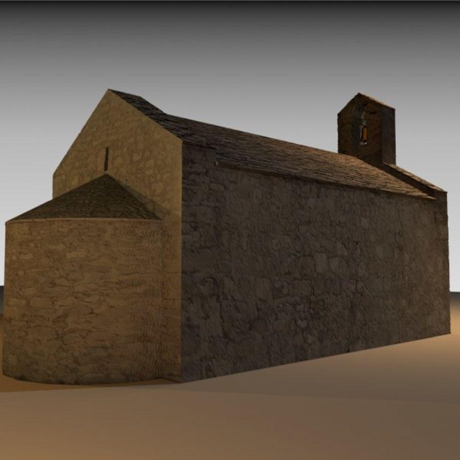 Kościół IX wieku royalty-free 3d model - Preview no. 6