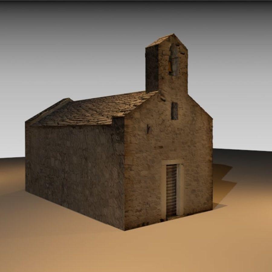 Kościół IX wieku royalty-free 3d model - Preview no. 1