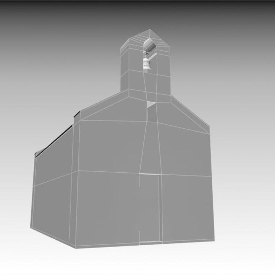 Kościół IX wieku royalty-free 3d model - Preview no. 12
