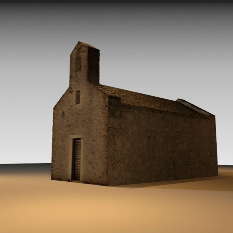 Kościół IX wieku royalty-free 3d model - Preview no. 3