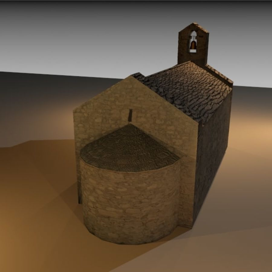 Kościół IX wieku royalty-free 3d model - Preview no. 5