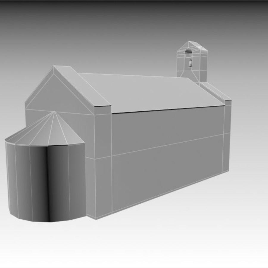 Kościół IX wieku royalty-free 3d model - Preview no. 9