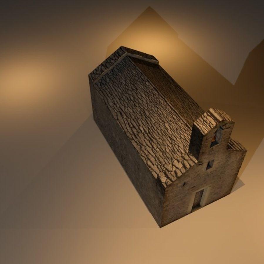 Kościół IX wieku royalty-free 3d model - Preview no. 8