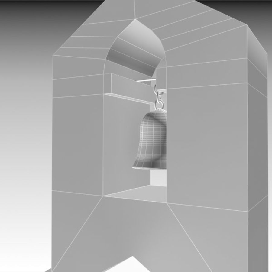 Kościół IX wieku royalty-free 3d model - Preview no. 11