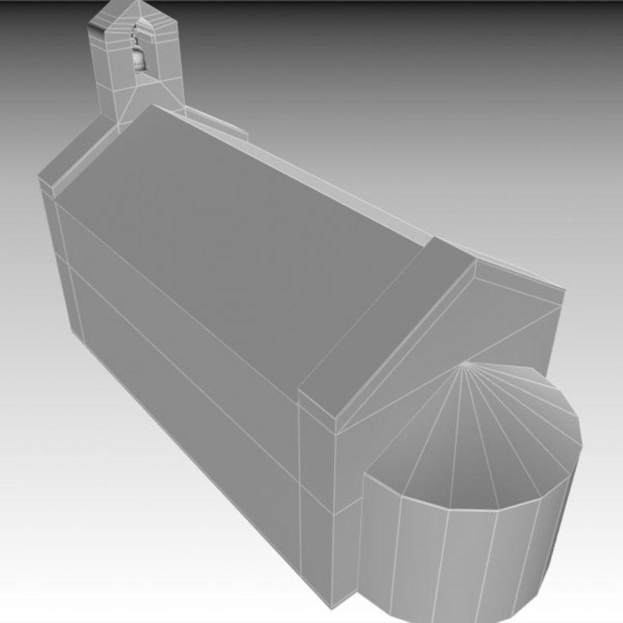 Kościół IX wieku royalty-free 3d model - Preview no. 10