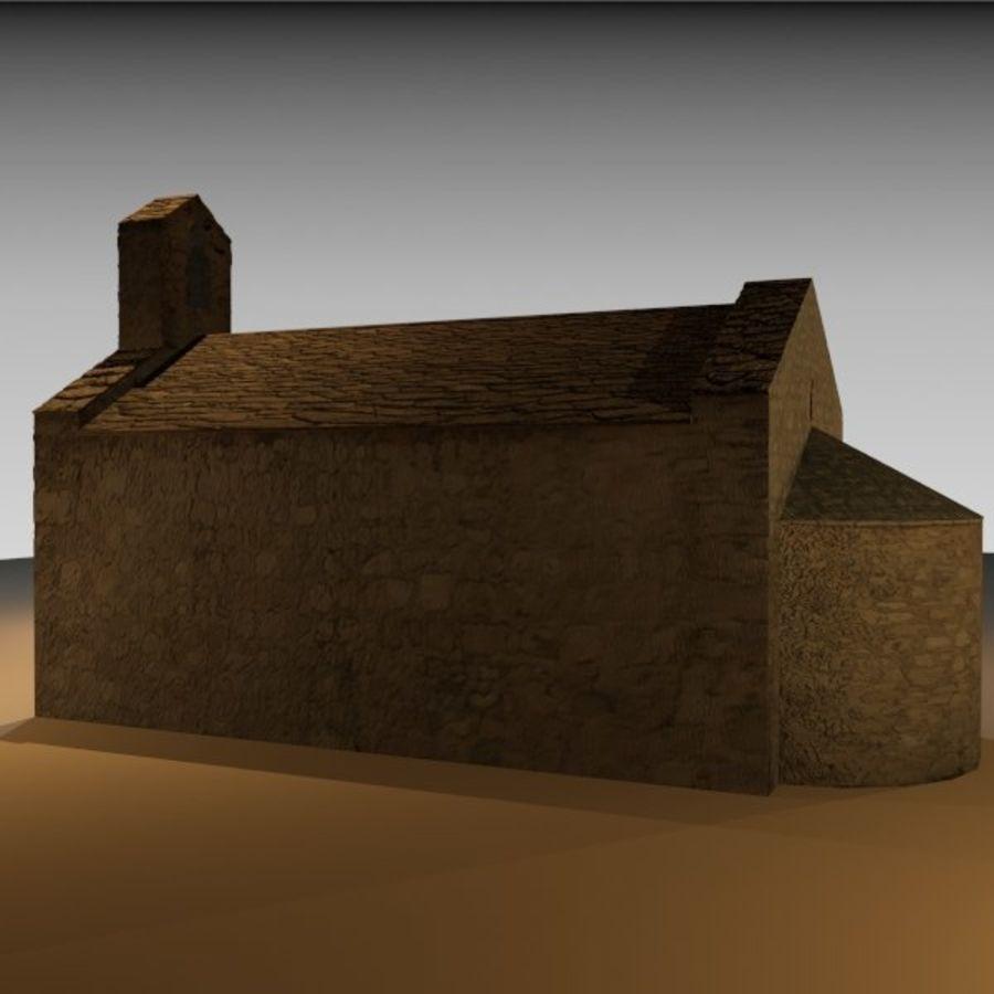 Kościół IX wieku royalty-free 3d model - Preview no. 4