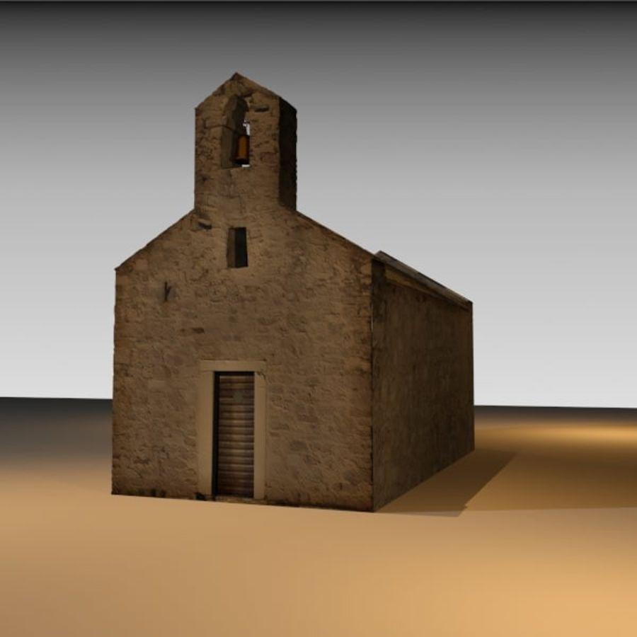 Kościół IX wieku royalty-free 3d model - Preview no. 2