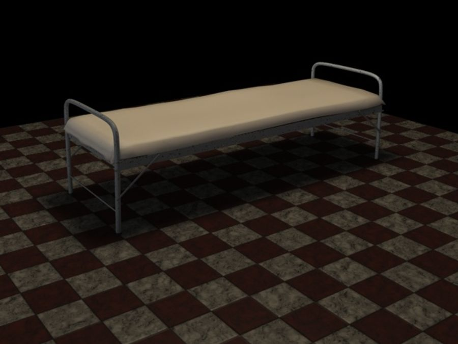 Bed_A royalty-free 3d model - Preview no. 7