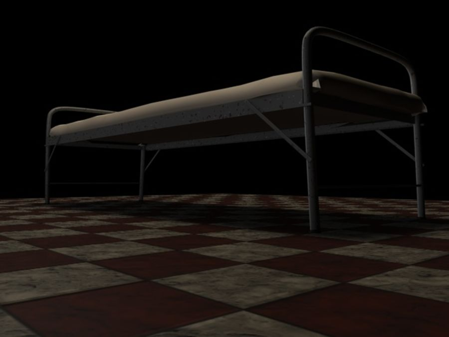 Bed_A royalty-free 3d model - Preview no. 8