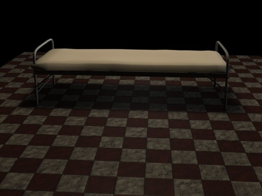 Bed_A royalty-free 3d model - Preview no. 2