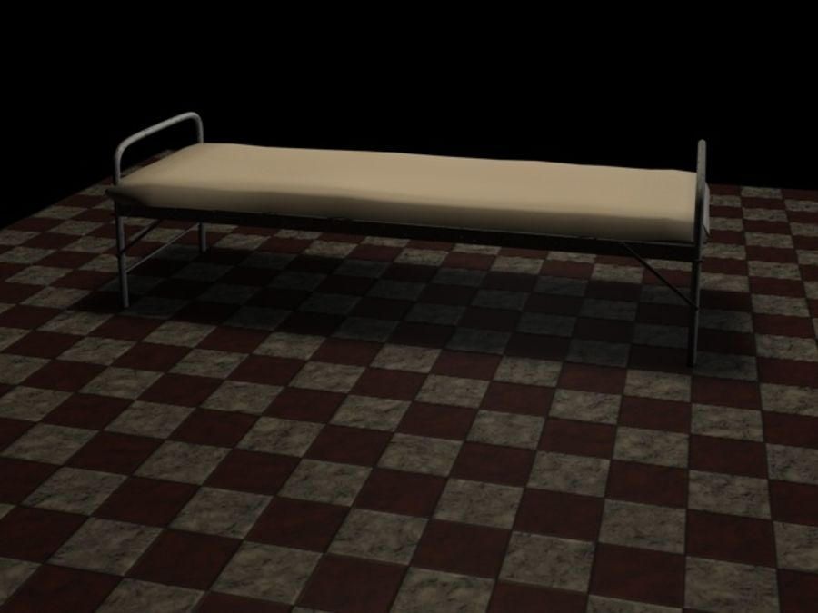 Bed_A royalty-free 3d model - Preview no. 3