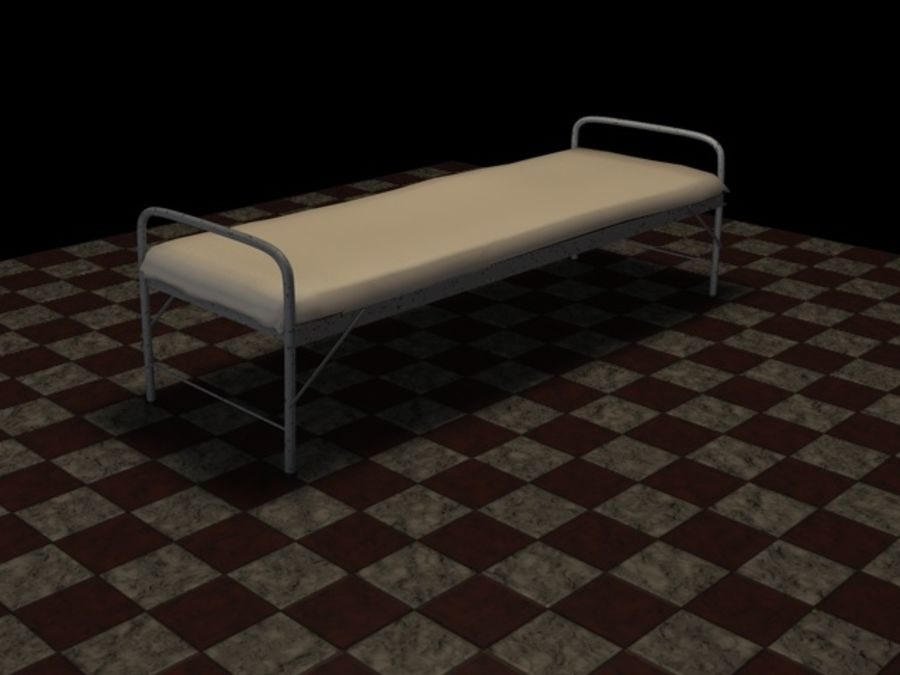 Bed_A royalty-free 3d model - Preview no. 6