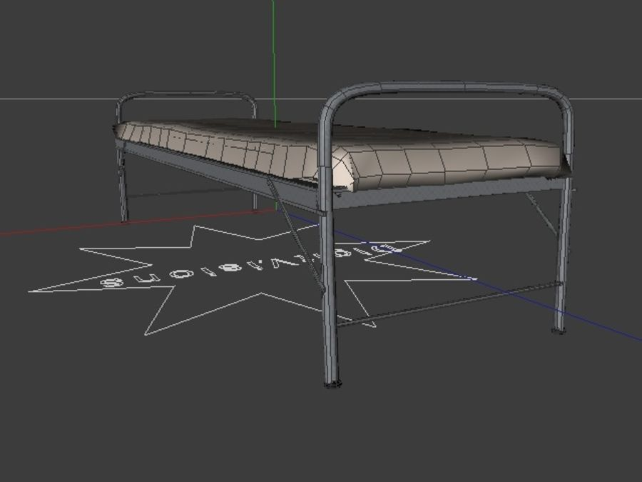Bed_A royalty-free 3d model - Preview no. 10