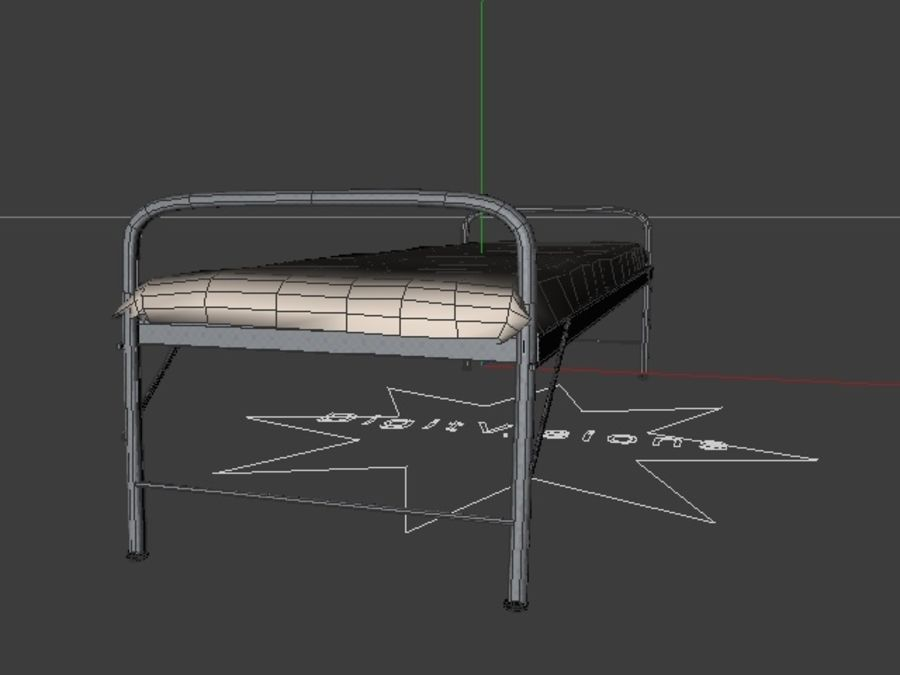 Bed_A royalty-free 3d model - Preview no. 11